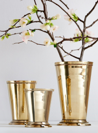 Polished Brass Julep Cups
