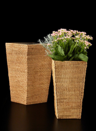 17 1/2in Square Rattan Basket