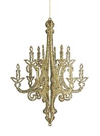 3D Gold Silver Glitter Chandelier