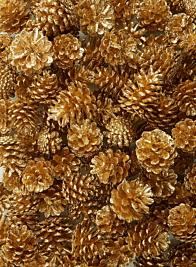 christmas metallic gold glitter pinecones