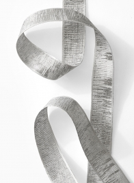 silver white grey zebra christmas ribbon