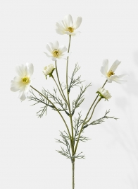 white cosmos spray silk flowers