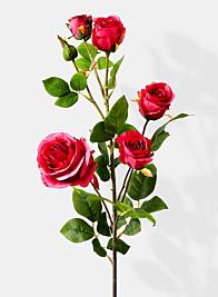 pink zhen hui rose spray silk flowers
