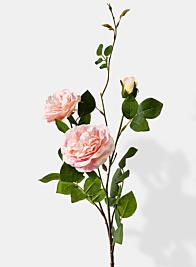 pink peony rose branch silk flowers