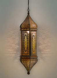 antique gold iron turkish style lamp