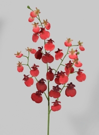 32in Red Dancing Orchid Spray