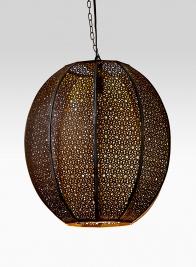 18in Black & Gold Iron Lamp