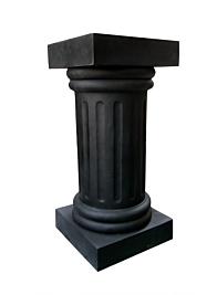 28in black fiberglass pedestal MD44BK