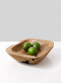 teak wood fruit bowl