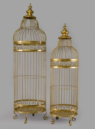 35in & 42in Gold Birdcages