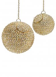 Hanging Gold & Crystal Balls