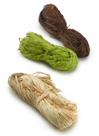 Green, Dark Brown, & Natural Raffia