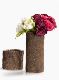 6in Tree Bark Vase