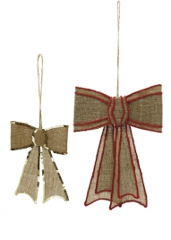 9in & 14in Hanging Jute Bows