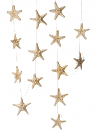 White Knobby Starfish Garland