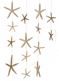 White Finger Starfish Garland