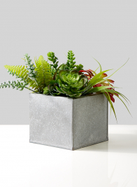 square metal pot