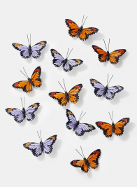 3 1/2in Orange & Purple Monarch Butterflies, Set of 12 24906