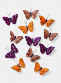 3 1/2in Orange, Purple & Copper Butterflies, Set of 12 24907