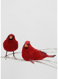 6in Red Straw Cardinal