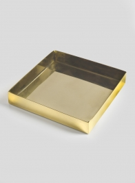 6in Bombay Brass Square Tray