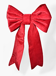 18 x 29in Red Double Bow With Fishtail Feet