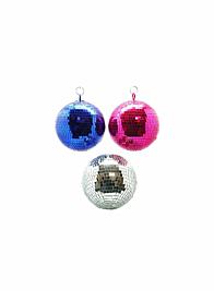 7in Blue Mirror Disco Ball Ornament