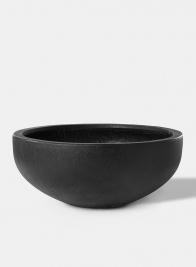 21in Black Ficonstone Bowl Planter