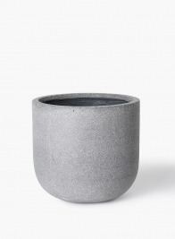 Rough Grey Ficonstone Round Pot