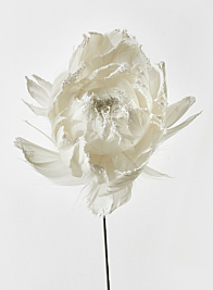 white feather peonies holiday decor