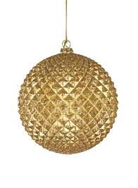 Gold Glitter Durian Ball Ornament