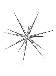 Silver Starburst Ornament