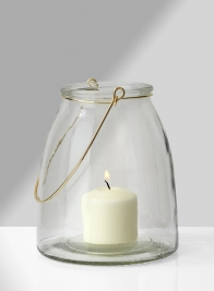 6in Hanging Glass Jar
