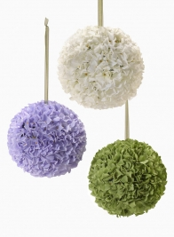 7in, 10in, & 14in Faux Hydrangea Balls