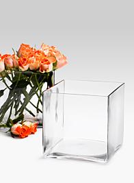 7in Glass Cube Vase