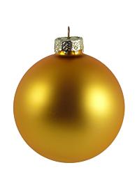 80mm Matte Gold Glass Balls, Set of 15