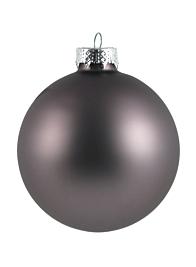 80mm Matte Platinum Glass Balls, Set of 15