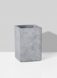 square grey cement modern wedding vase