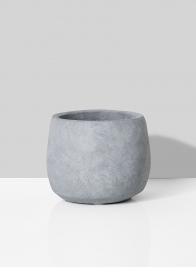 grey cement fishbowl vase