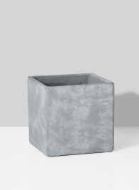 modern square grey cement vase