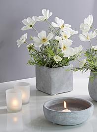 Atelier 4in Cement Cube Vase