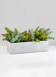 Atelier 12in Rectangular Cement Pot