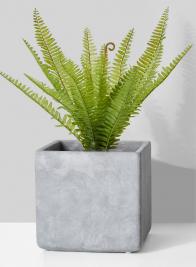 Atelier 8in Cement Cube Vase