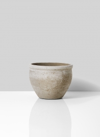 small houseplant shaped pot with cement texture