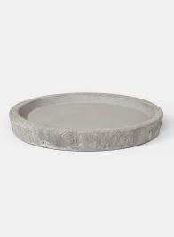 9 1/4in Rustic Cream Cement Saucer