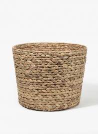 13 3/4in Water Hyacinth Basket