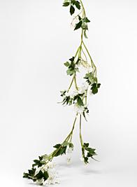 cream silk flower garland