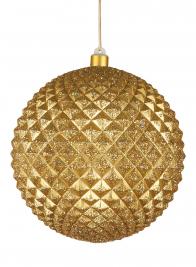 8in Gold Glitter Durian Ball Ornament