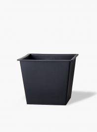14in Square Black Flower Bucket