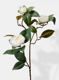 cream white camellia silk wedding flowers